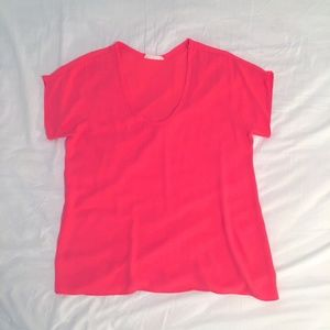 Lush Coral Sheer Blouse